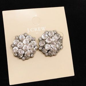 J. CREW crystal cluster statement earrings NWT $68